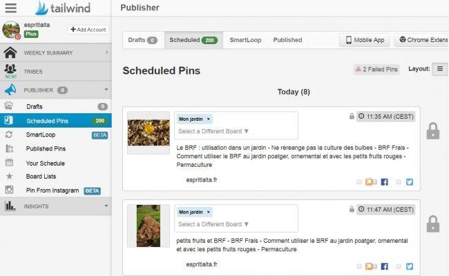 Tailwind pour Pinterest