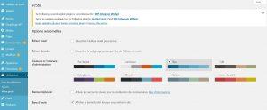 Modifier le profil wordpress